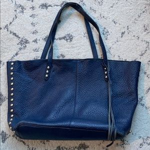 Rebecca Minkoff Navy Studded Leather Tote